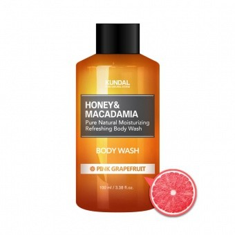 KUNDAL Żel pod prysznic- różowy grejpfrut Honey&Macadamia Body Wash Pink Grapefruit 100ml