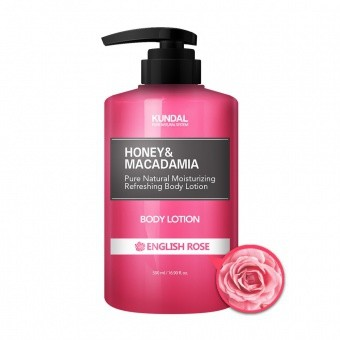 KUNDAL Balsam do ciała- angielska róża Honey&Macadamia Body Lotion English Rose 500ml
